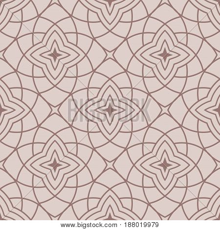 Arabic seamless patterns. Beige ornaments for textile and fabric. Vector illustration