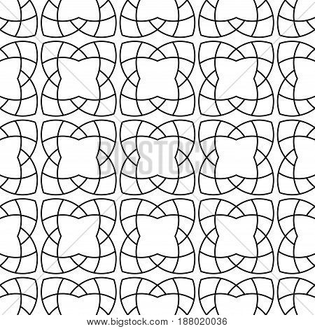 Arabic seamless patterns. Black and white ornaments for textile and fabric. Vector illustration