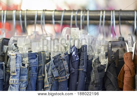 Racks Of Clothes At Store