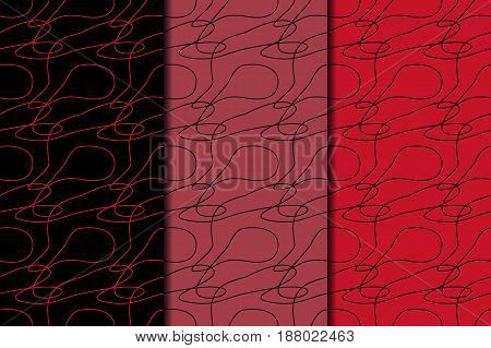 Abstract colored seamless pattern. Black and red colored wallpapers. Vector illustration