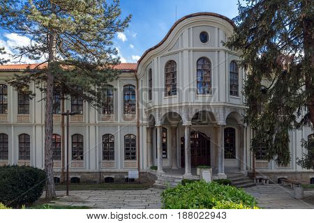VELIKO TARNOVO, BULGARIA - 9 APRIL 2017: Museum Revival and Constituent Assembly in city of Veliko Tarnovo, Bulgaria
