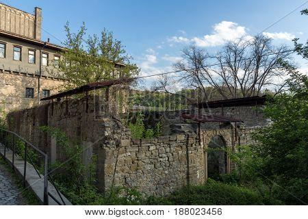VELIKO TARNOVO, BULGARIA - 9 APRIL 2017: Ruins of Church of St. Spas in city of Veliko Tarnovo, Bulgaria