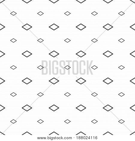Abstract Seamless Pattern. Grey Rhombuses, Modern Stylish Textures