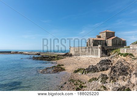 Saint-Nicolas priory in la Chaume Les Sables d`Olonne, France