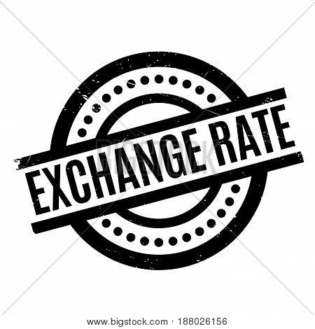 Exchange Rate rubber stamp. Grunge design with dust scratches. Effects can be easily removed for a clean, crisp look. Color is easily changed.