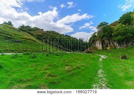 Beautiful Waitomo scenic landscape North Island of New Zealand