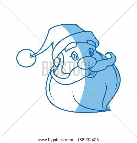 face of santa claus. merry christmas character vector illustration