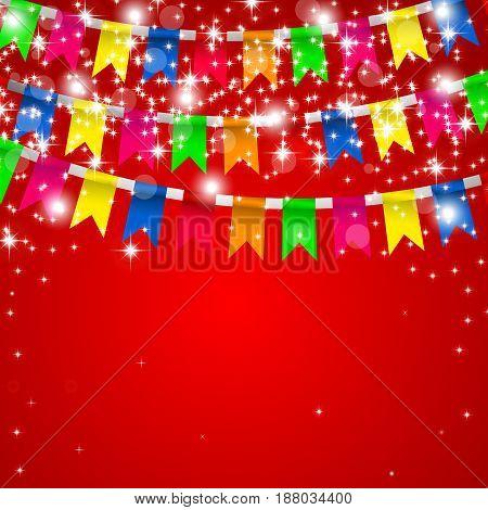 holiday card, Vector illustration.Festive color design, Checkboxes