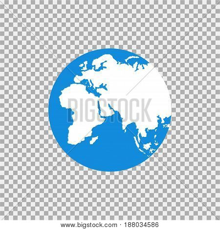 Map Of The World On A Grey Background