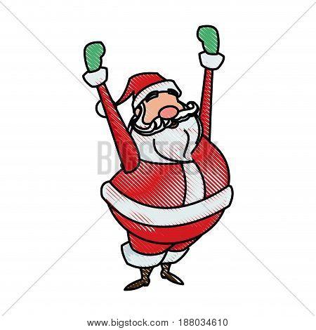 drawing santa claus christmas character style vector illustration