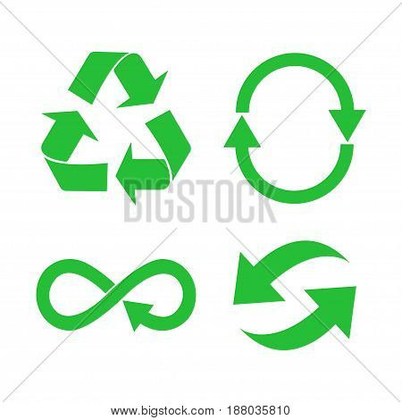 Eco, Organic, Ecology, Recycle Green Symbol Or Sign
