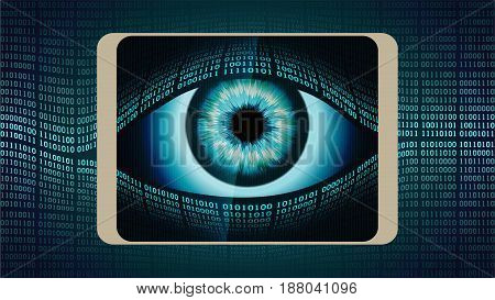 The concept of permanent global covert surveillance using mobile devices security of computer systems and networks privacy