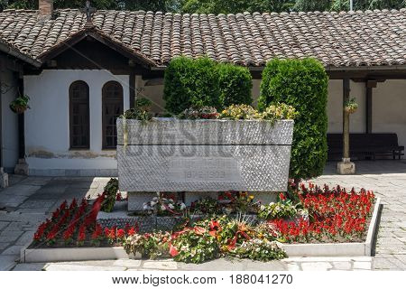 SKOPJE, REPUBLIC OF MACEDONIA - 13 MAY 2017: Orthodox Church of the Ascension of Jesus and The grave of Gotse Delchev in Skopje, Republic of Macedonia