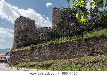 SKOPJE, REPUBLIC OF MACEDONIA - 13 MAY 2017: Skopje fortress (Kale fortress) in the Old Town, Republic of Macedonia