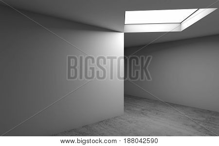 Abstract Contemporary Architecture, Empty Room