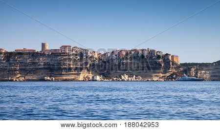 Old Town On Rocky Coast Of Bonifacio