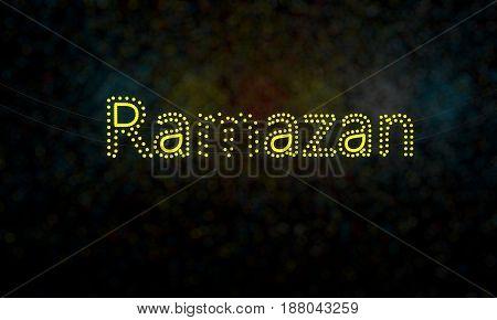Ramazan Sharif Of Background, 3D Render