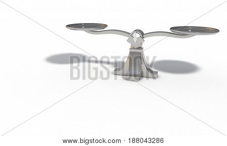 Scales On The White, 3D Render