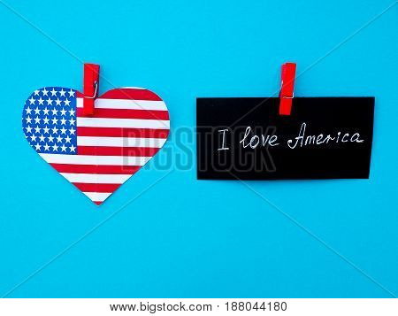 I Love My Country America flag independence day