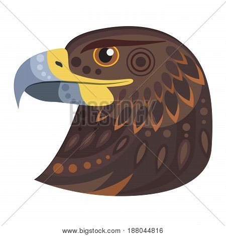 Dark eagle head Logo. Vector decorative Emblem