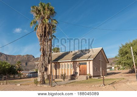 MONTAGU SOUTH AFRICA - MARCH 26 2017: A church in Montagu a town in the Western Cape Province