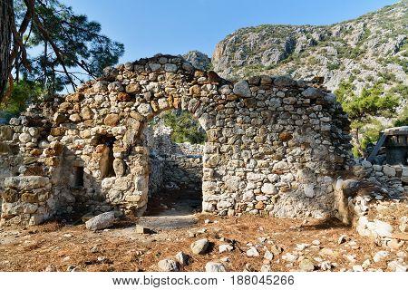 North Necropolis. Ruins Of Ancient City Olympos In Lycia. Turkey