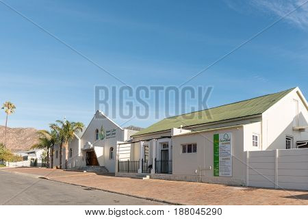 MONTAGU SOUTH AFRICA - MARCH 26 2017: The New Life Church and creche in Montagu a town in the Western Cape Province