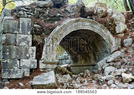 The Theater. Ruins Of Ancient City Olympos In Lycia. Turkey