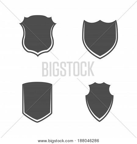 Black and white vector Shields Set. Use this Security Signs Your Design like Banners, Labels and other