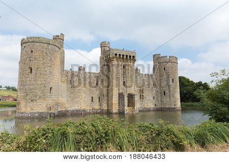 Ancient Bodiam castle in Sussex England United Kingdom