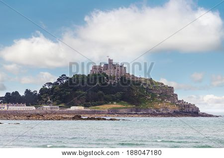 Ancient St Michael's Mount castle in Cornwall England United Kingdom