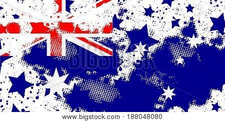 Australian flag. Vector grunge flag. Using for decoration works.