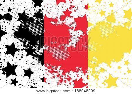 Vector Belgium grunge flag. Using for decoration works.