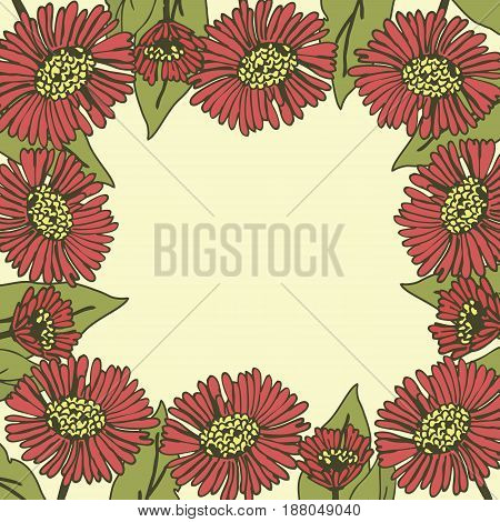 Card square shape with floral background and place for text