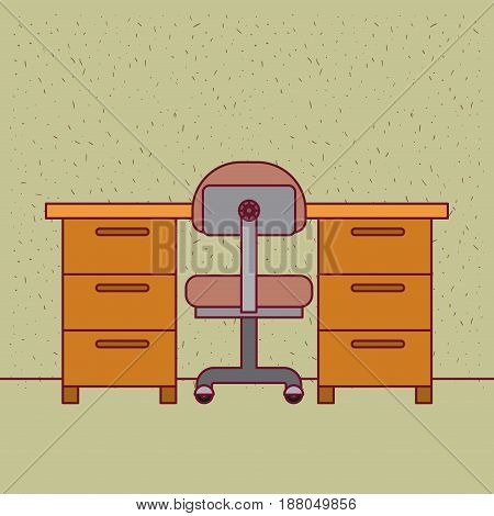 color background with sparkles work place office interior vector illustration