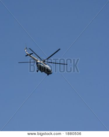 Russian Helicopter In Flight