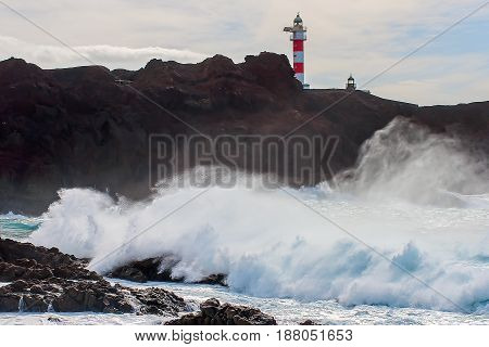 Atlantic coast of the island of Tenerife