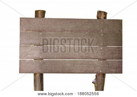 Isolated Announcement Wooden Board On White Background