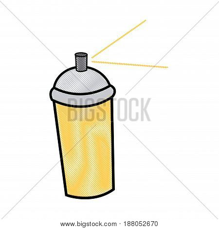 spray paint can graffiti tool icon vector illustration