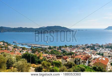 View Of Kas Town In Turkey