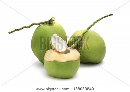 Coconut Ripe And Tasty Isolated On White Background
