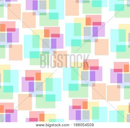 Seamless background with patterns composed from pastel squares
