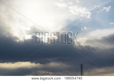 Natural background, sky, clouds, white, blue, nature