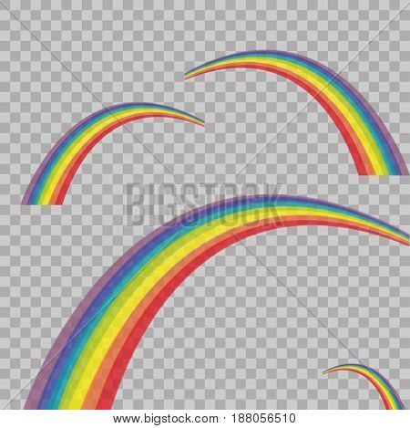 Rainbow Colored On Transparent Background. Vector Illustration. Modern Stylish Abstract Texture. Tem