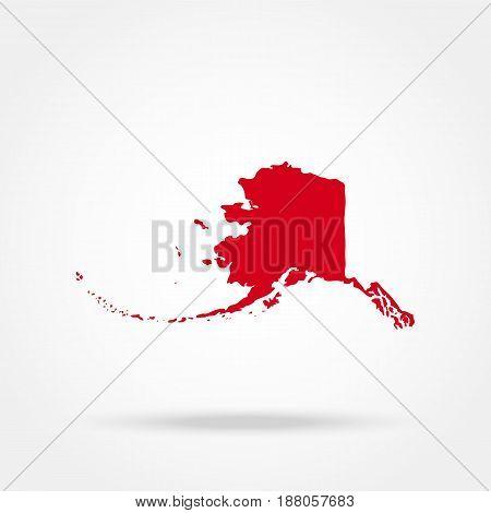 Map of the U.S. state of Alaska