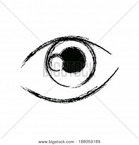 graffiti eye expression vision draw image vector illustration