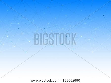 Abstract background with the structure of the lines of dots. Web of the geometric shapes. Space for text.