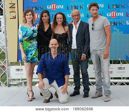 Giffoni Valle Piana Sa Italy - July 17 2011 : Cast Movie Oggetti Smarriti at Giffoni Film Festival 2011 - on July 17 2011 in Giffoni Valle Piana Italy