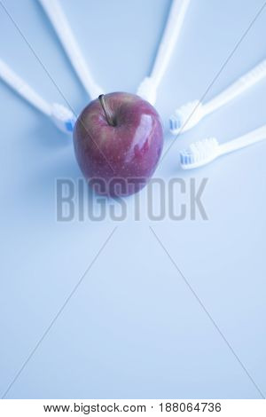 Dental Toothbrushes And Apple