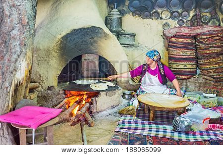 Cooking Of Gozleme